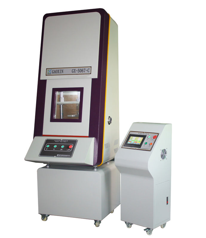 PLC Automatic Control Microcomputer Control 13 KN Compress 18650 Cylindrical Battery Crush Testing Equipment